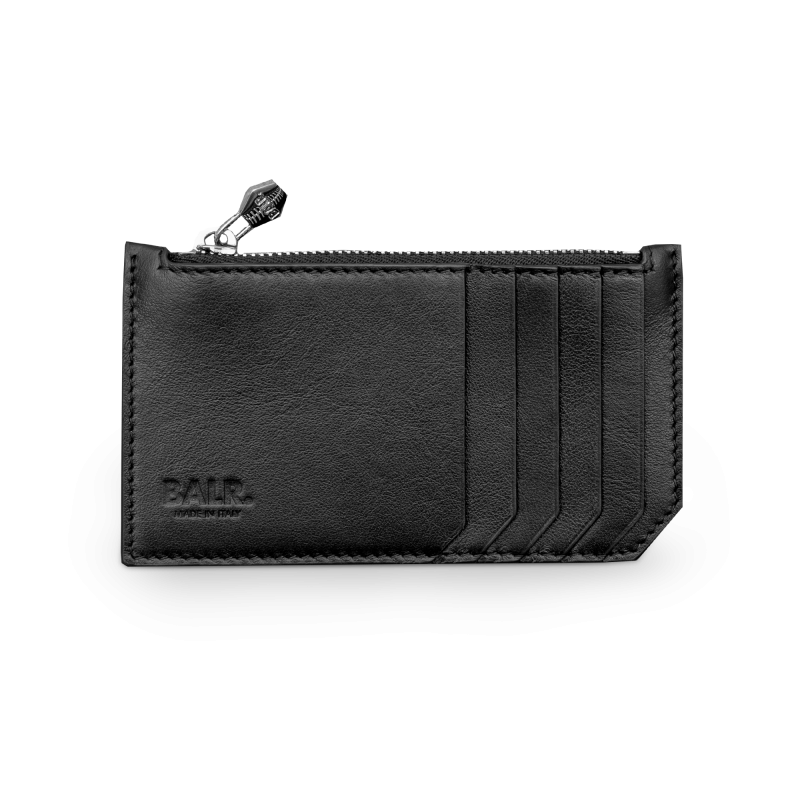 Leather Zipped Cardholder Front