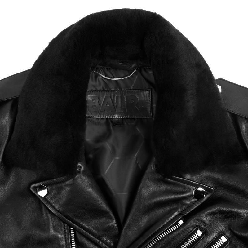 Leather Biker Jacket Collar