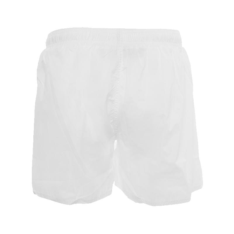 White Classic Swim Shorts Back