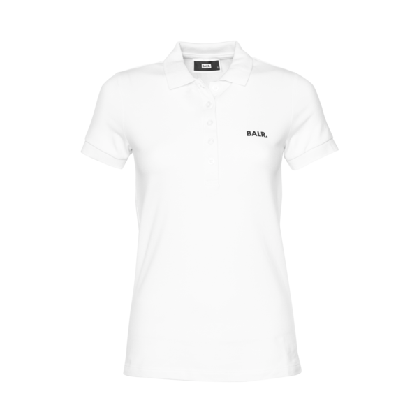 Voorkant Brand Polo Shirt Women Wit