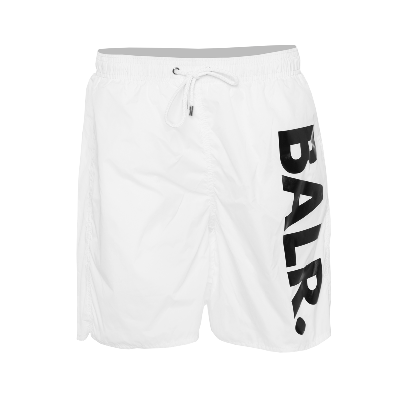 Big Brand Swim Shorts White