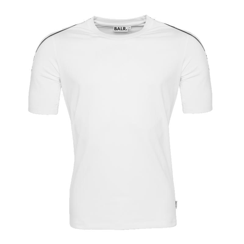 Webbing-Trimmed T-Shirt White