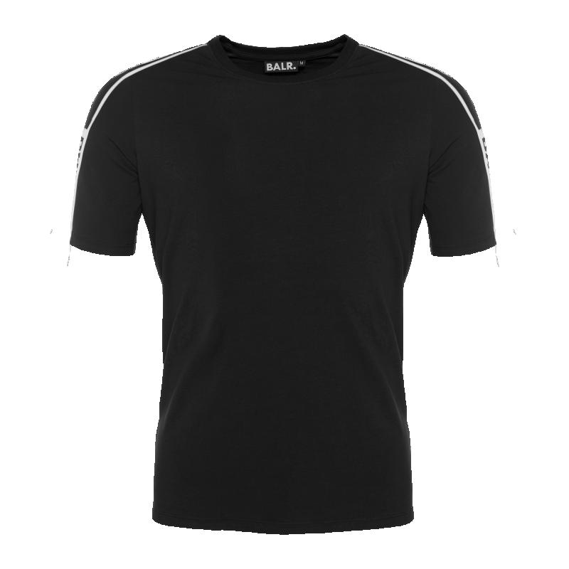 Webbing-Trimmed T-Shirt Black
