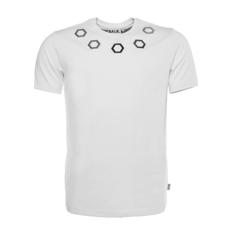 White Hexagon Shirt Front