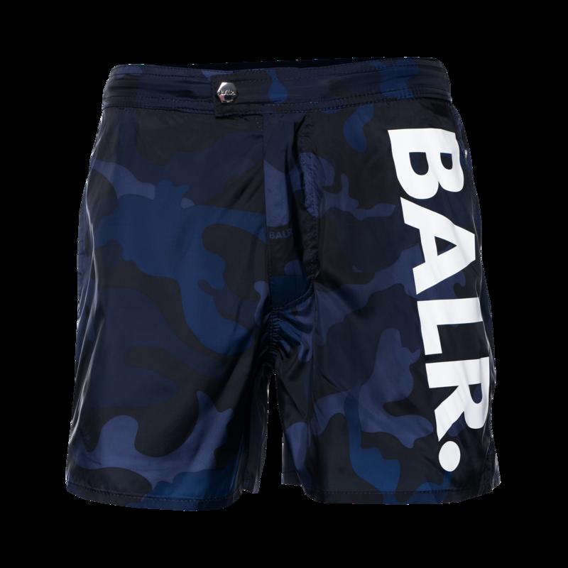 BALR. Big Brand Camo Swim Shorts Navy