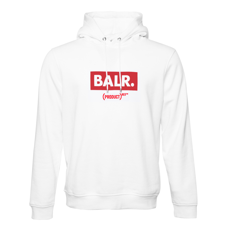 BALR. (BALR.)RED Club Hoodie White Front