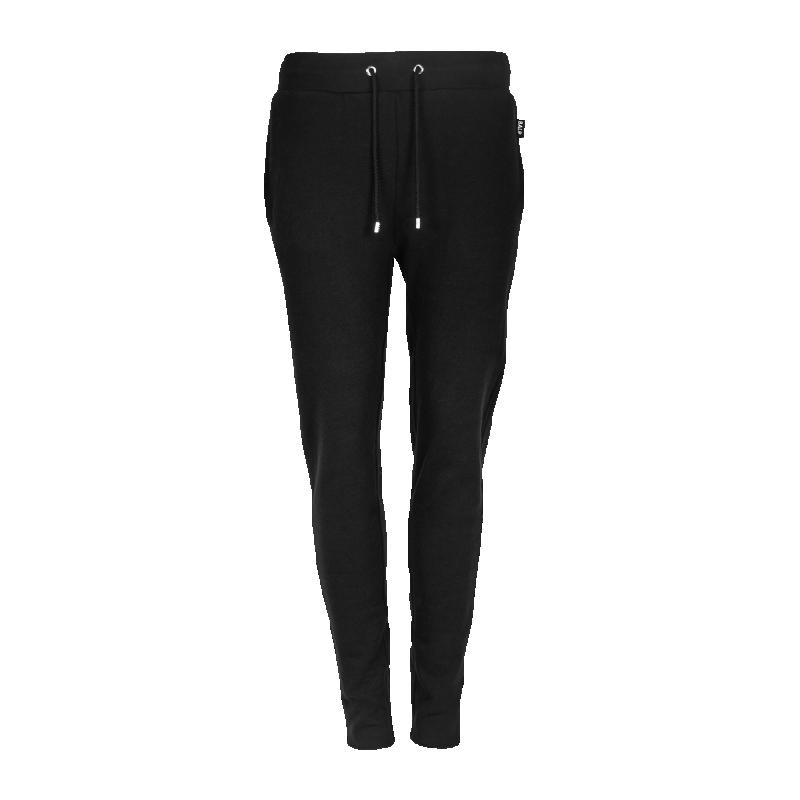 Black Zipper Sweatpants Women Front