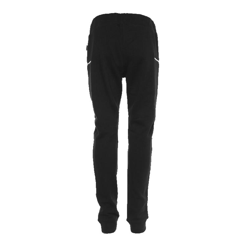 Black Zipped Sweatpants Back