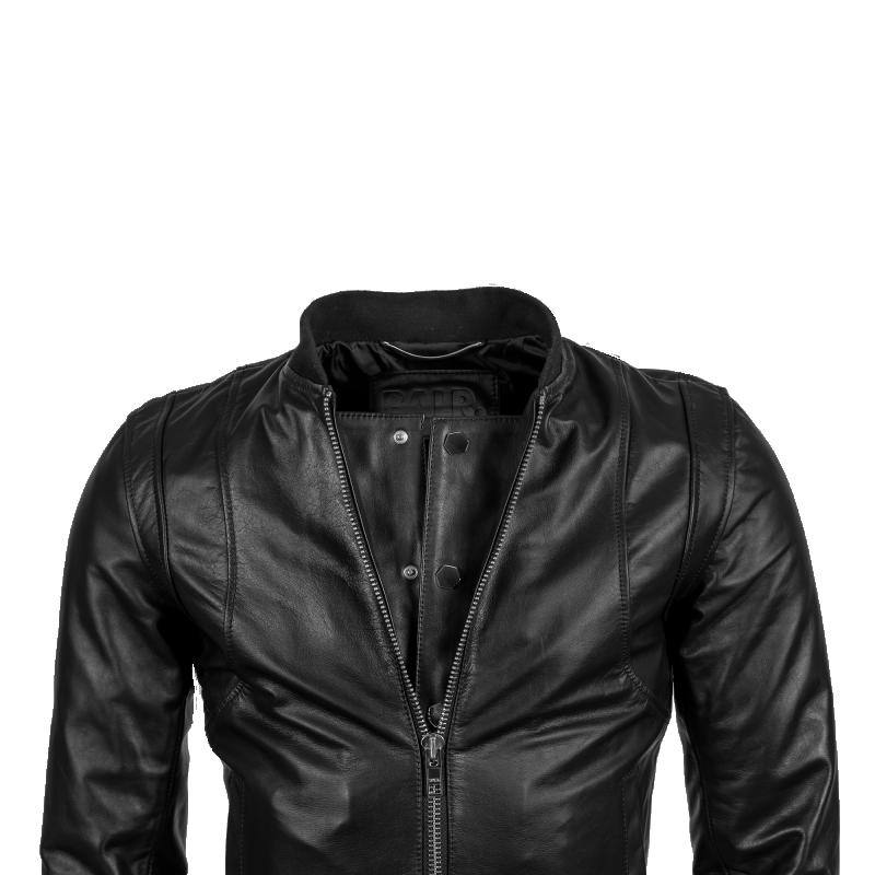 Leather Bomber Jacket Detail