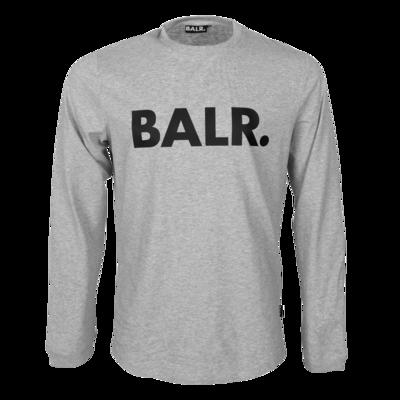 BALR. Brand Athletic long sleeve T-Shirt Lt grey htr