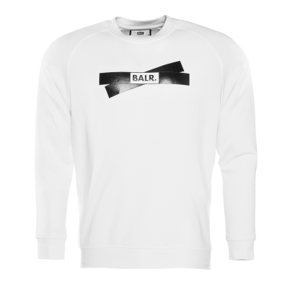 Tape Logo Crew neck Sweater Wit