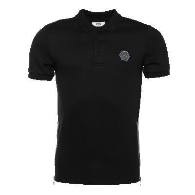 Q-Series Metal Hexagon Polo Shirt Zwart