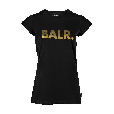 Women Brand T-Shirt Zwart en Goud