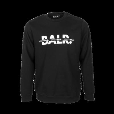 BALR. Crossed LOAB Straight Crew neck Black