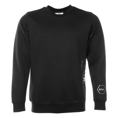 CC BALR. Straight Crew Neck Sweater Noir