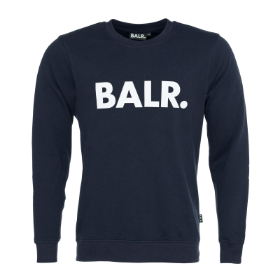 Brand Crew Neck Sweater Navy Blue