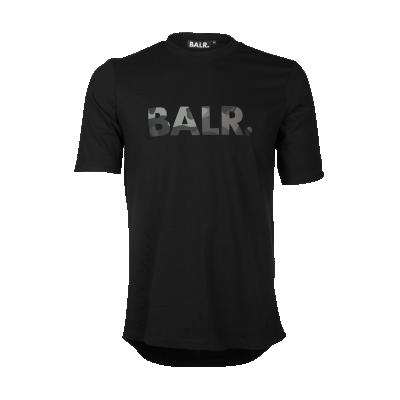 Brand Camo T-shirt zwart