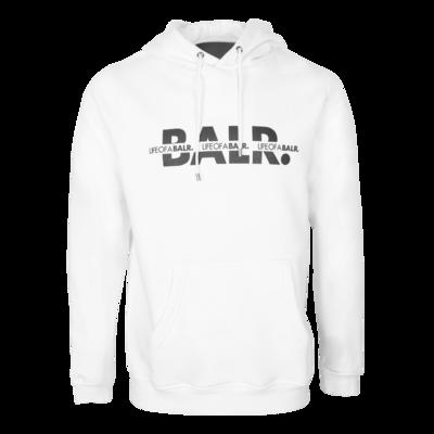 BALR. Crossed LOAB Straight Hoodie White