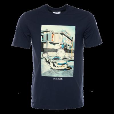 BALR. lifestyle straight t-shirt Marineblauw
