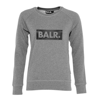 Women Club Crew Neck Sweater Grey