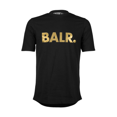 Brand T-Shirt Black And Gold