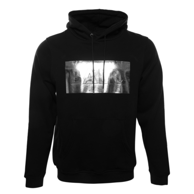 Silver Club Straight Hoodie Black