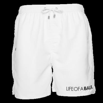 BALR. big logo swim shorts Blanc