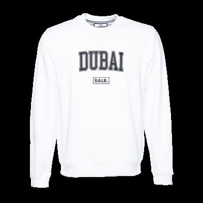 College Dubai loose crew neck White