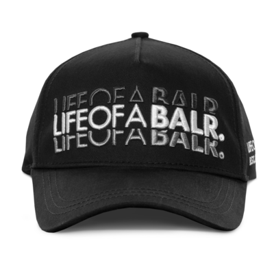 LIFEOFABALR. Double Classic Cap Zwart