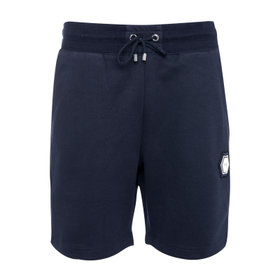 Q-Series Metal Hexagon Badge Shorts Marineblauw