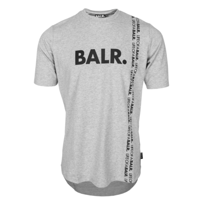 BALR. vertical LOAB athletic t-shirt  Lt grey htr