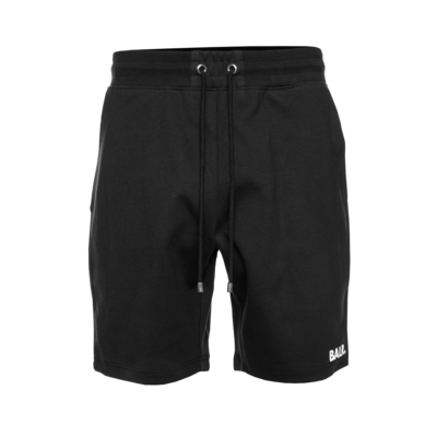 Repeat Zip Sweat Shorts Zwart