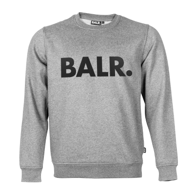 Brand Crew Neck Sweater Grey