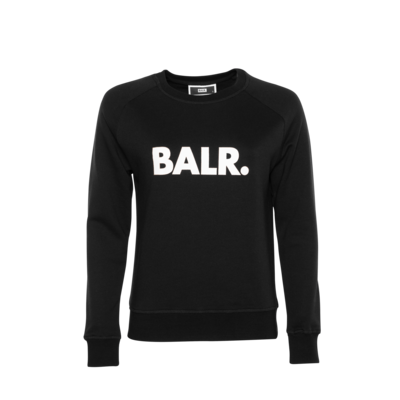 Brand Crew Neck Sweater Women Black