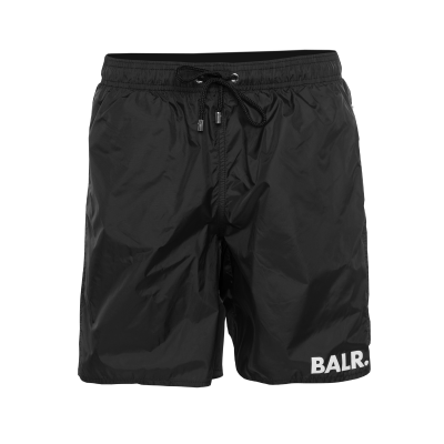 BALR. Mid-Length Swim Shorts Zwart