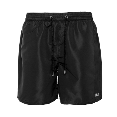 Camo Stripe Swim Shorts Black