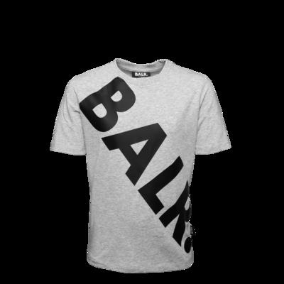 Tilted Logo T-Shirt Kids Grey