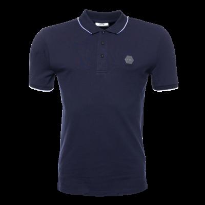 Hexagon Badge Polo Shirt Navy