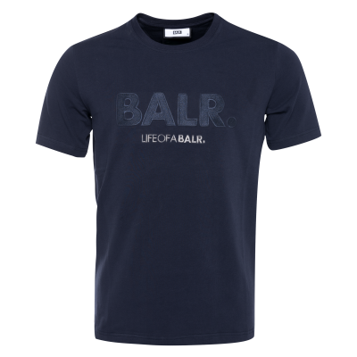 Black Label - Embroidered Logo T-Shirt Marineblauw