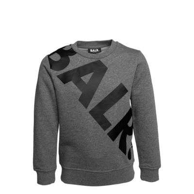 Tilted Logo Crew Neck Sweater Kids Grey
