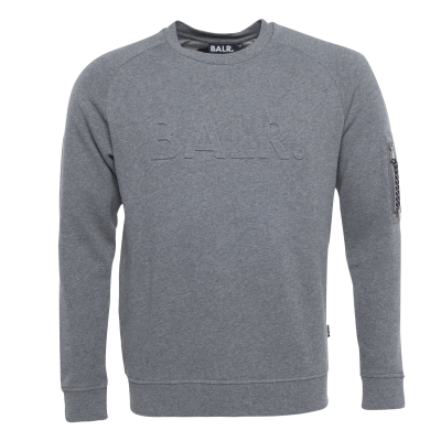 Embossed Cord Crew Neck grijs
