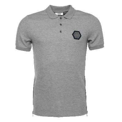 Q-Series Metal Hexagon Polo Shirt Grijs