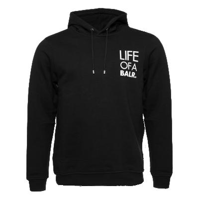 LIFEOFABALR. Logo Hoodie Zwart