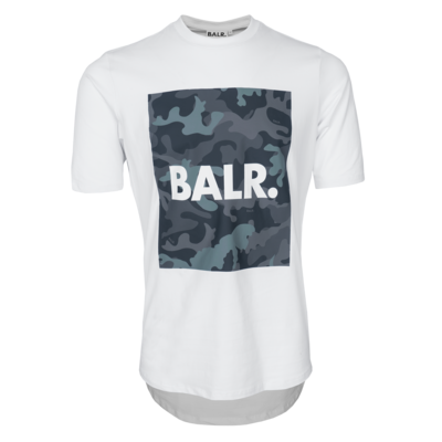 BALR. camo print athletic t-shirt White