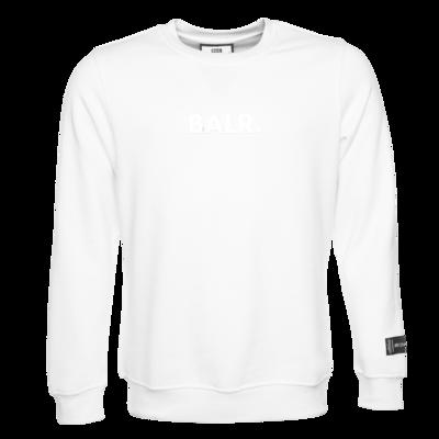 BALR. Embossed Straight Crew Neck Sweatshirt Weiß