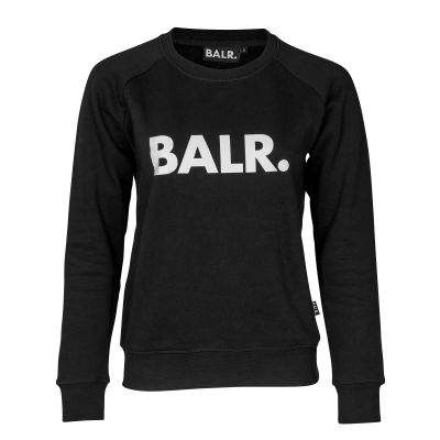 Women Brand Crew Neck Sweater Schwarz