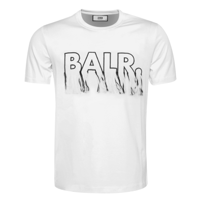 Black Label - BALR. Fringe T-Shirt Wit