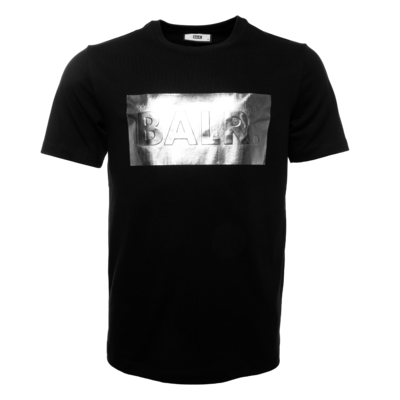 Silver club straight t-shirt Black
