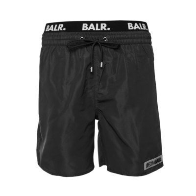 LOAB Badge Swim Shorts Zwart