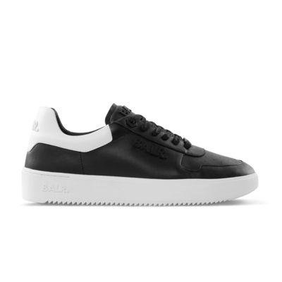 Leather Clean Logo Sneakers Low Zwart